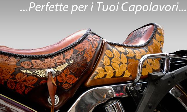<br>Sella per Moto Guzzi <br> Pelle Utilizzata: art. Naturale <br><br> Realizzata da: <br> Sara Macor - FaceBook: Dream Leathers